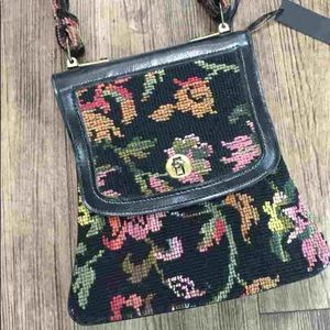 Vintage tapestry carpet purse